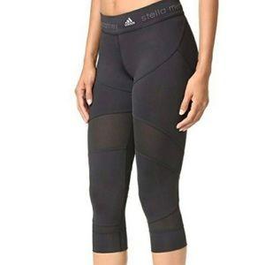 Adidas Stella McCartney Black Mesh Crop Leggings